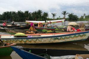 Le marché flottant de Banjarmasin