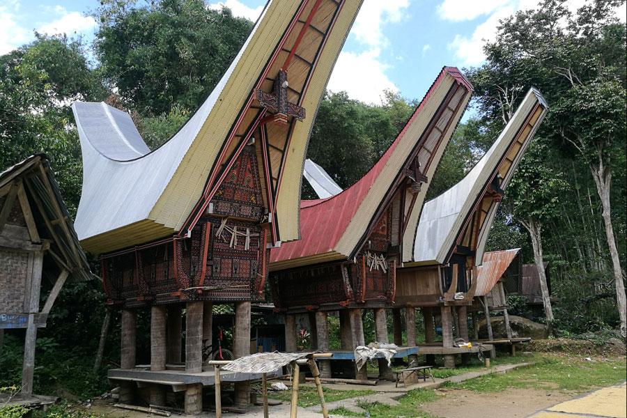 Les belles maisons Toraja