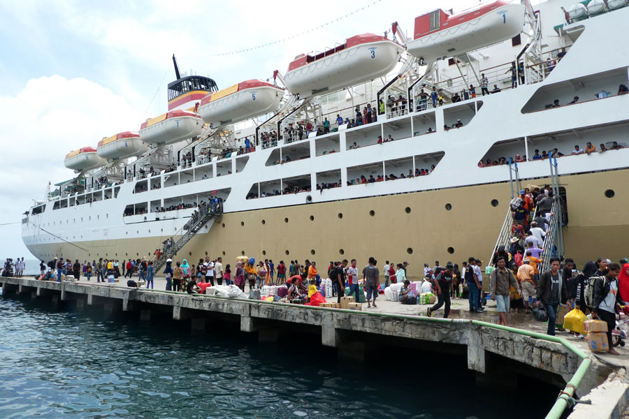 Le ferry vers Maumere