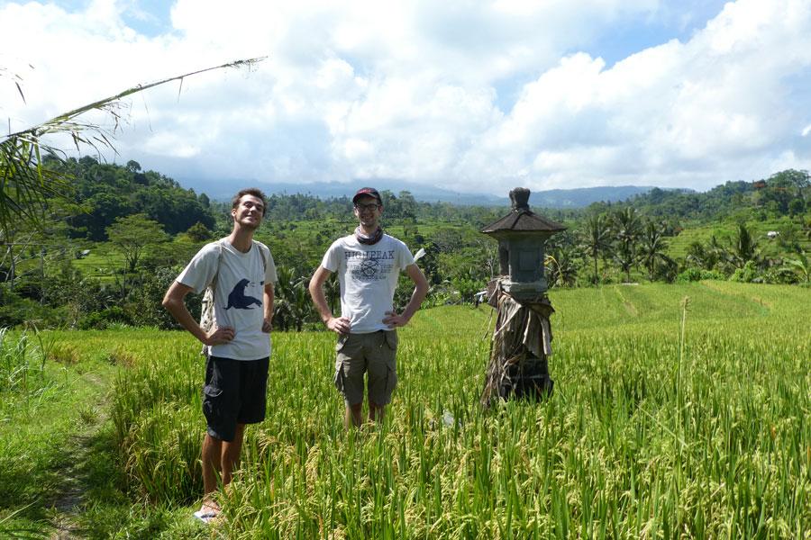 On se perd dans les rizières de Sidemen