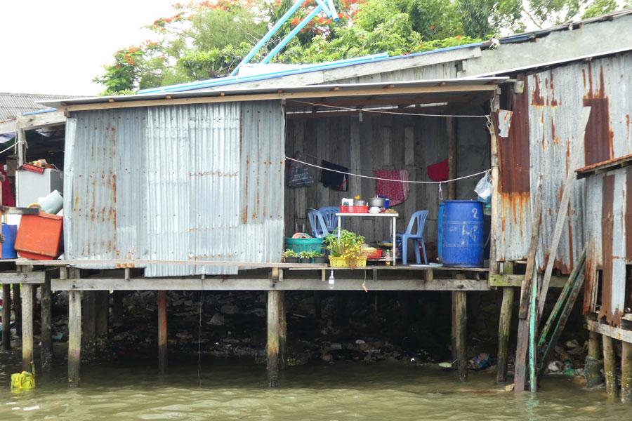 Une maisonette sur le port