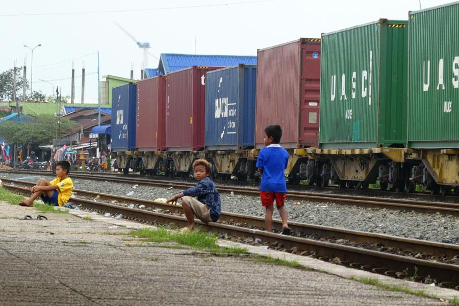 Les enfants de la gare de Sihanoukville