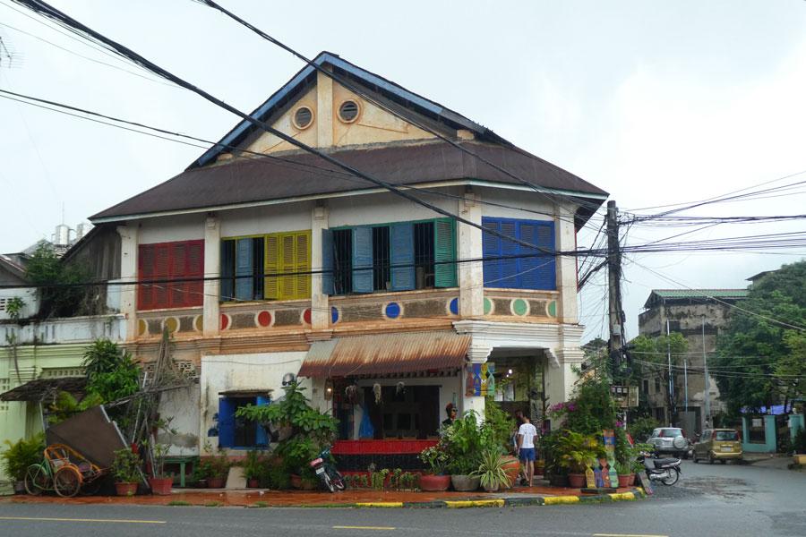 Vite, une photo d'une jolie maison de Kampot tant qu'il ne pleut pas