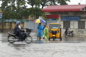 Beaucoup de pluie pour la fin du Cambodge