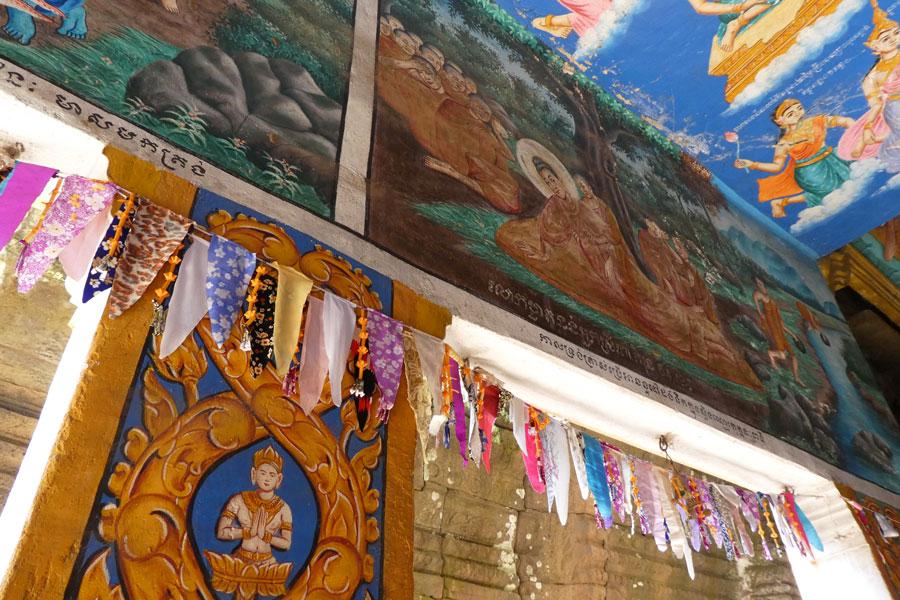 Les couleurs vives du temple