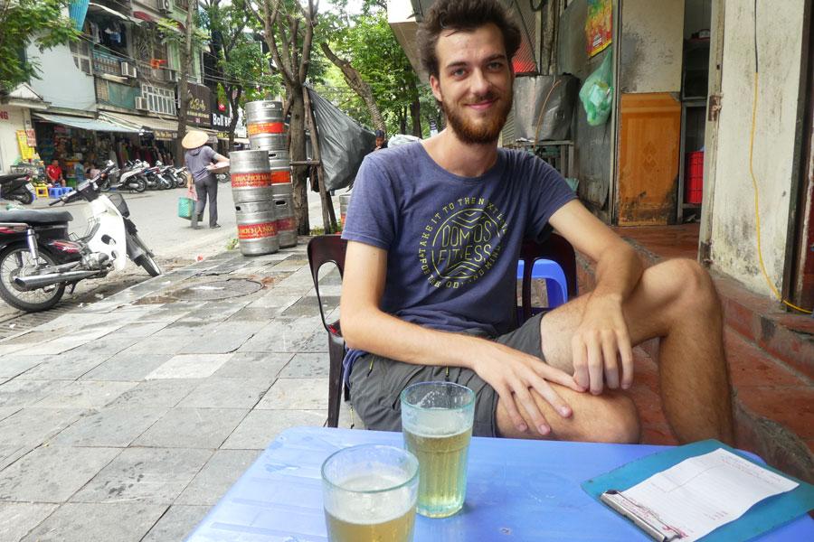Une petite bière fraichement brassée pour se remettre des visas chinois