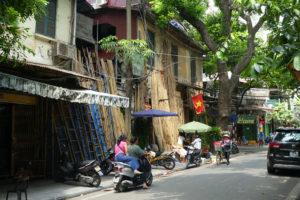 La rue des bambous à Hanoï