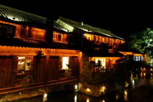 Le illuminations du soir à Wuzhen