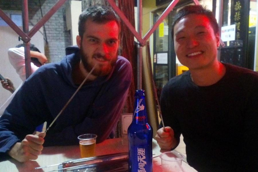 Bière et grillade avec Jay