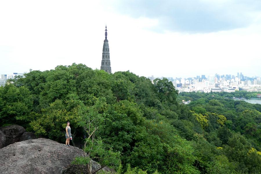 Vue panoramique en haut du rocher