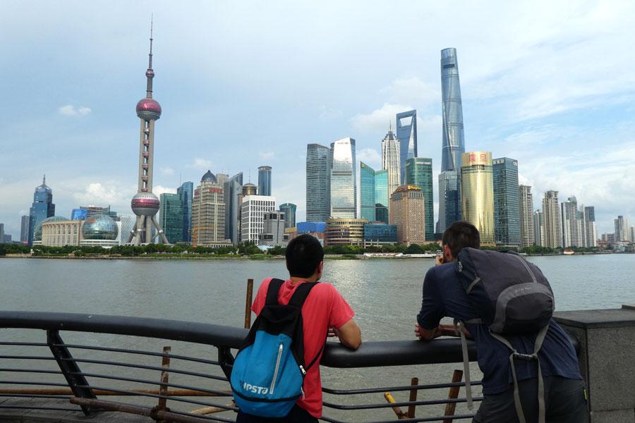 Vue depuis le Bund de Shanghai
