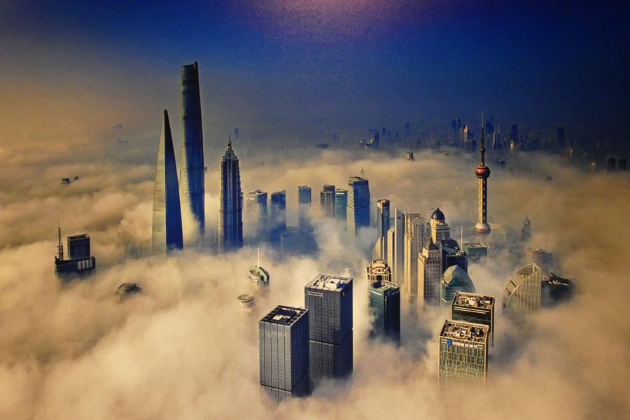 Photo aérienne de la ville
