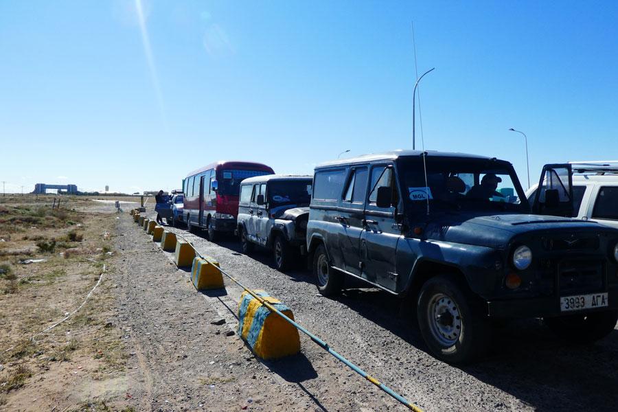 En attendant de pouvoir passer le poste frontière mongol