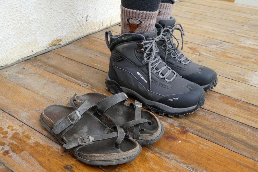 Changement de chaussures