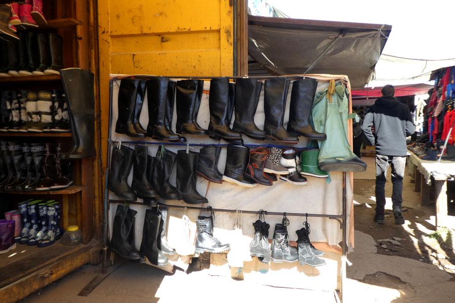Les bottes fourrées mongoles, typique des nomades