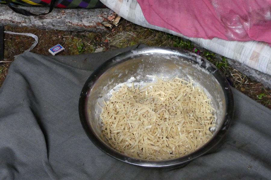 Ce soir : bouillon de pâtes