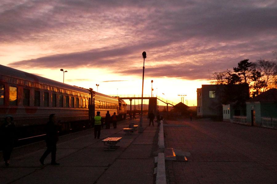 Sur le quai du Transsibérien