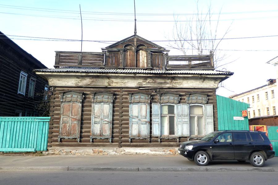 Une petite maison typique de Sibérie
