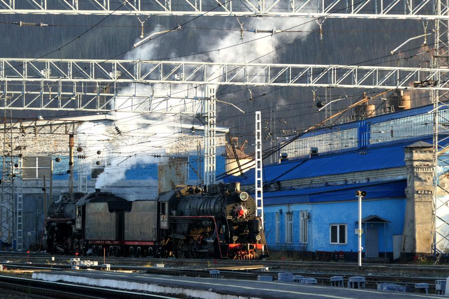 Un train vapeur